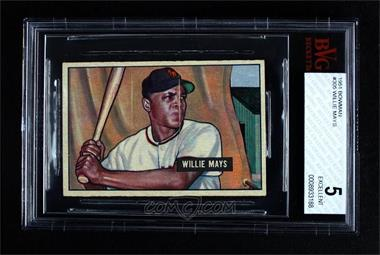 1951 Bowman - [Base] #305 - Willie Mays [BVG 5 EXCELLENT]