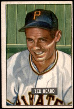 1951 Bowman - [Base] #308 - Ted Beard [VG]