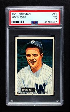 1951 Bowman - [Base] #41 - Eddie Yost [PSA7NM]