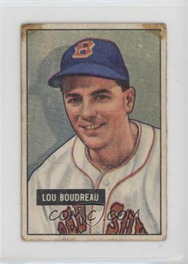 1951 Bowman - [Base] #62 - Lou Boudreau [Poor]