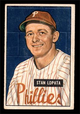1951 Bowman - [Base] #76 - Stan Lopata [VG]