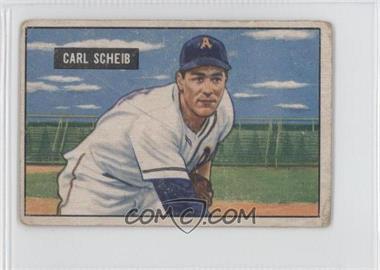 1951 Bowman - [Base] #83 - Carl Scheib [GoodtoVG‑EX]
