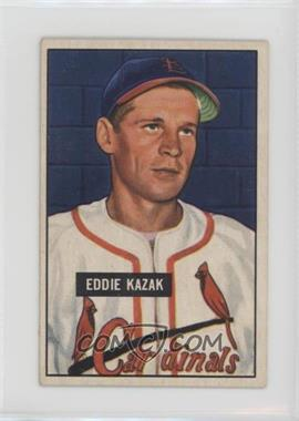 1951 Bowman - [Base] #85 - Eddie Kazak [Good to VG‑EX]
