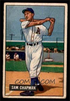 1951 Bowman - [Base] #9 - Sam Chapman [VG]