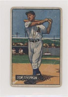 1951 Bowman - [Base] #9 - Sam Chapman [Poor to Fair]