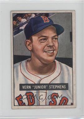 1951 Bowman - [Base] #92 - Vern 'Junior' Stephens