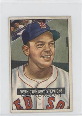 1951 Bowman - [Base] #92 - Vern 'Junior' Stephens [Good to VG‑EX]