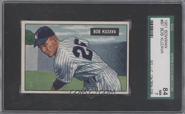 1951 Bowman - [Base] #97 - Bob Kuzava [SGC84NM7]