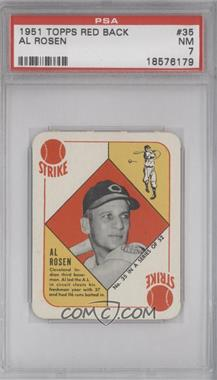 1951 Topps - Red Backs #35 - Al Rosen [PSA 7]