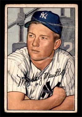 1952 Bowman - [Base] #101 - Mickey Mantle [POOR]