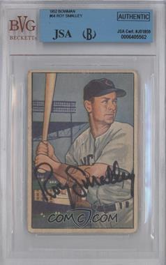 1952 Bowman - [Base] #64 - Roy Smalley [BVG/JSACertifiedAuto]