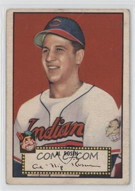 1952 Topps - [Base] #10.1 - Al Rosen (Red Back) [Good to VG‑EX]