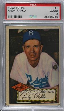 1952 Topps Base 11 Andy Pafko Red Back Psa 2 Good