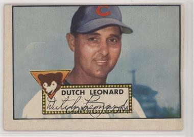 1952 Topps - [Base] #110 - Dutch Leonard [Good to VG‑EX]