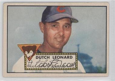 1952 Topps - [Base] #110 - Dutch Leonard [GoodtoVG‑EX]