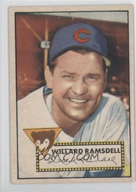 1952 Topps - [Base] #114 - Willie Ramsdell [Good to VG‑EX]