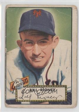 1952 Topps - [Base] #125 - Bill Rigney [Poor]