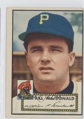 1952 Topps - [Base] #138 - Bill MacDonald