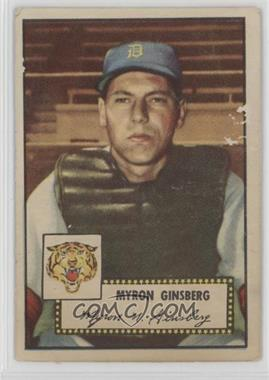 1952 Topps - [Base] #192 - Myron Ginsberg [Good to VG‑EX]