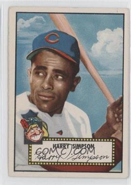 1952 Topps - [Base] #193 - Harry Simpson