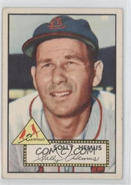 1952 Topps - [Base] #196 - Solly Hemus