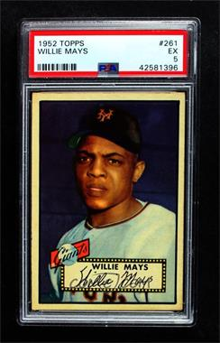 1952 Topps - [Base] #261 - Willie Mays [PSA5EX]