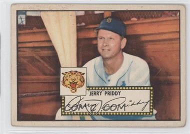 1952 Topps - [Base] #28.1 - Jerry Priddy (Red Back) [GoodtoVG‑EX]