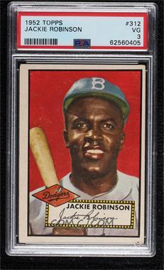 1952 Topps - [Base] #312 - High # - Jackie Robinson [PSA3VG]