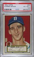 Warren Spahn (Red Back) [PSA 4.5 VG‑EX+]