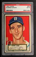 Warren Spahn (Red Back) [PSA 5]