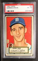 Warren Spahn (Red Back) [PSA 4]
