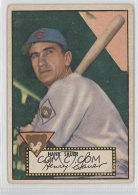 1952 Topps - [Base] #35.2 - Hank Sauer (Black Back) [NoneGoodtoVG‑EX]
