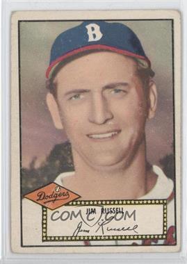 1952 Topps - [Base] #51.2 - Jim Russell (Black Back) [NoneGoodtoVG‑EX]