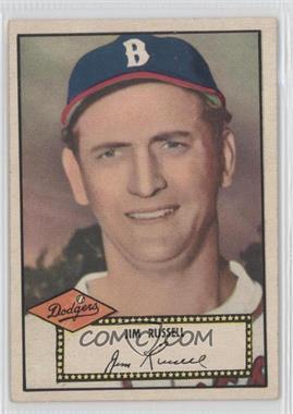 1952 Topps - [Base] #51.2 - Jim Russell (Black Back)