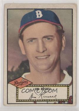 1952 Topps - [Base] #51.2 - Jim Russell (Black Back) [PoortoFair]