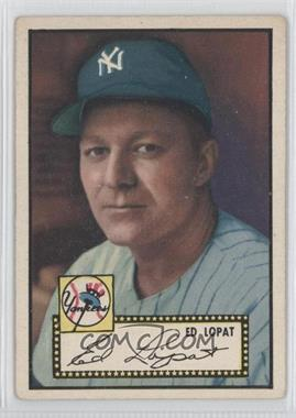 1952 Topps - [Base] #57.2 - Ed Lopat (Black Back) [Good to VG‑EX]