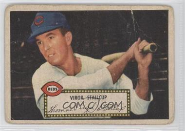 1952 Topps - [Base] #69.1 - Virgil Stallcup (Red Back) [Poor to Fair]