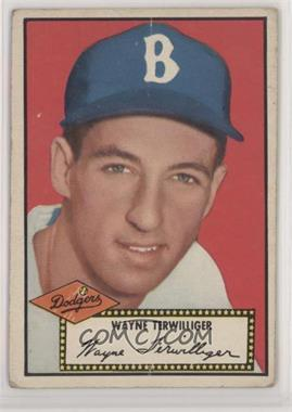 1952 Topps - [Base] #7.2 - Wayne Terwilliger (Black Back) [PoortoFair]