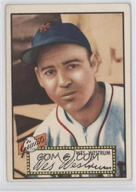 1952 Topps - [Base] #75.1 - Wes Westrum (Red Back) [Good to VG‑EX]