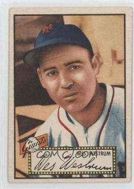 1952 Topps - [Base] #75.1 - Wes Westrum (Red Back)