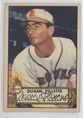 1952 Topps - [Base] #82 - Duane Pillette [Good to VG‑EX]
