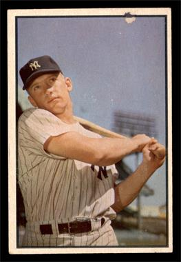 1953 Bowman Color - [Base] #59 - Mickey Mantle [GOOD]