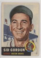 Sid Gordon (Bio Information in Black)