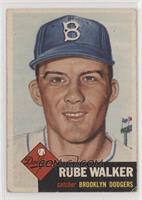 Rube Walker (Bio Information is White) [Poor to Fair]