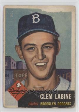 1953 Topps - [Base] #14 - Clem Labine [Poor]