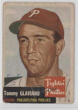 1953 Topps - [Base] #140.1 - Tommy Glaviano (Bio Information is Black) [Poor]