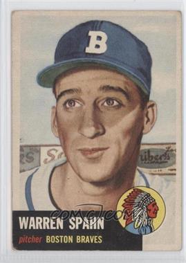 1953 Topps - [Base] #147 - Warren Spahn [GoodtoVG‑EX]