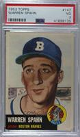 Warren Spahn (Bio Information is White) [PSA 3 VG]