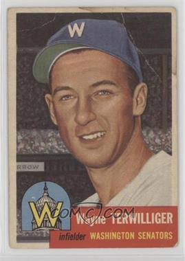 1953 Topps - [Base] #159 - Wayne Terwilliger [Poor]