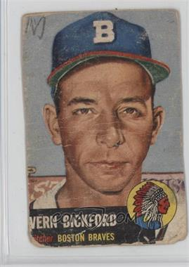 1953 Topps - [Base] #161.1 - Vern Bickford (Bio Information is Black) [Poor]